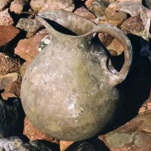 clay water jar on the ground