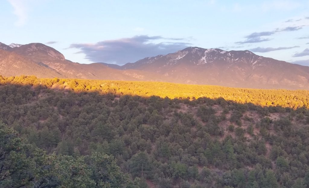 Alpenglow on the Sangre de Christos
