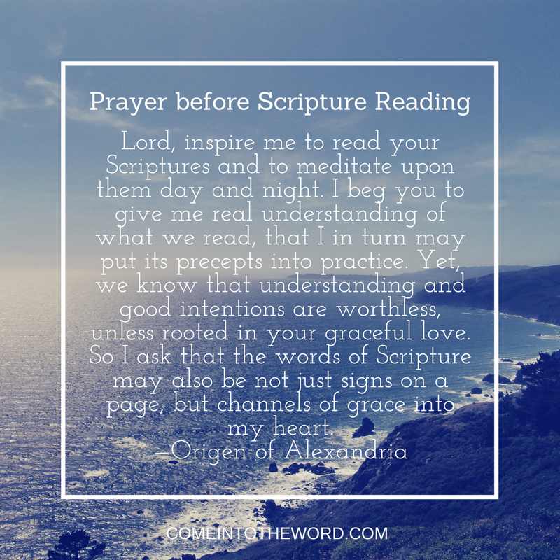 Origen' Prayer before Scripture Reading