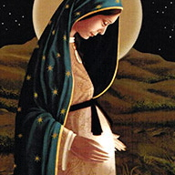 Mary pregnant with Jesus