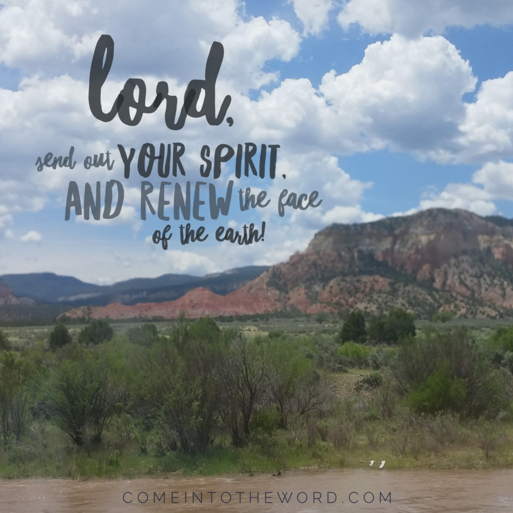 Lord, Send out your spirit and renew the face of the earth!