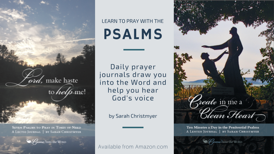 Learn to pray with the psalms - Bible reading Journals from Sarah Christmyer, available on Amazon