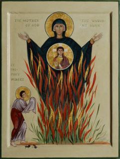 Moses - Burning Bush - Mary