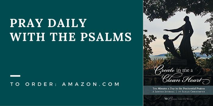 Pray daily with the Psalms, lenten prayer journal