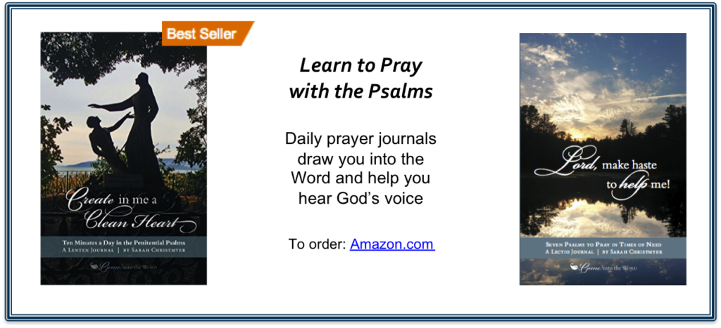 Two prayer journals for praying with the Psalms