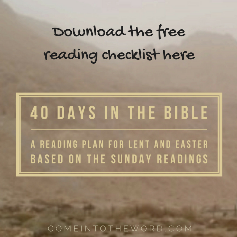 40 Days in the Bible reading checklist for Lent