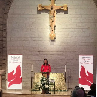 Sarah Christmyer at National Catholic Bible Conference 2017
