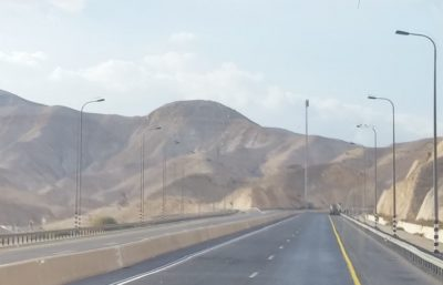 Judean wilderness on the road from Jericho to Jerusalem