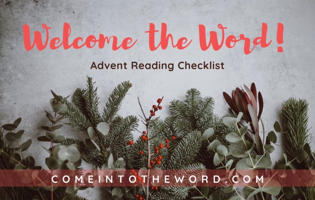 WELCOME THE WORD! Advent reading checklist graphic